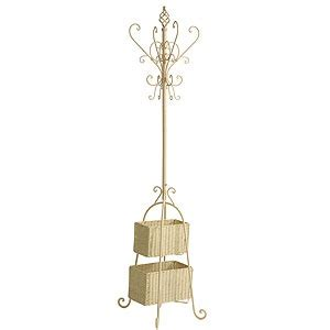 Coat Rack With Storage Baskets by Coat Rack With Wicker Basket Storage For The Home