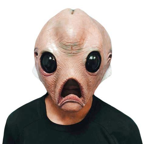 Good Earth Garden Center by Scary Alien Head Masks Latex Mask Full Face Halloween