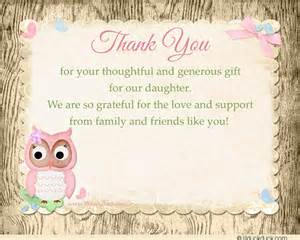 baby shower thank you card verse ideas shower themes