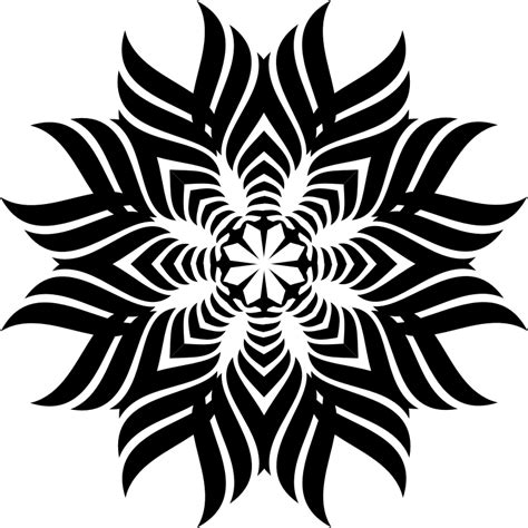 clipart tribal snowflake
