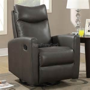 modern swivel rocker recliner gray coaster furniture