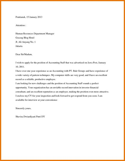 Cover Letter Sle For Employment by 10 Application Letter Applying Tech Rehab Counseling