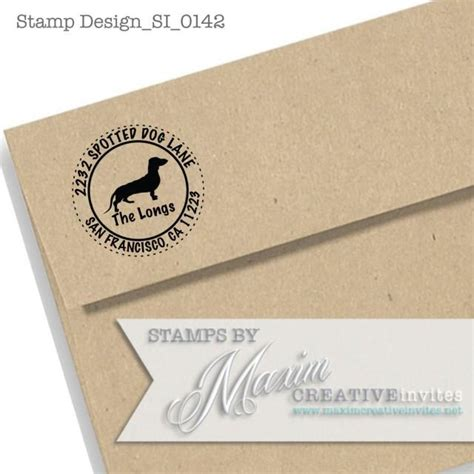 personalized rubber address sts personalized dachshund self inking rubber st gift