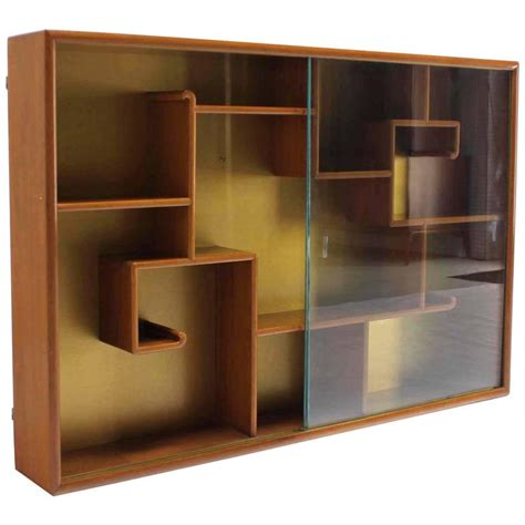 asian inspired hanging bookcase shelf w glass