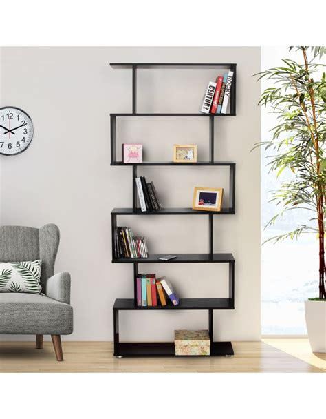 libreria di design homcom libreria di design in legno nero aosom it