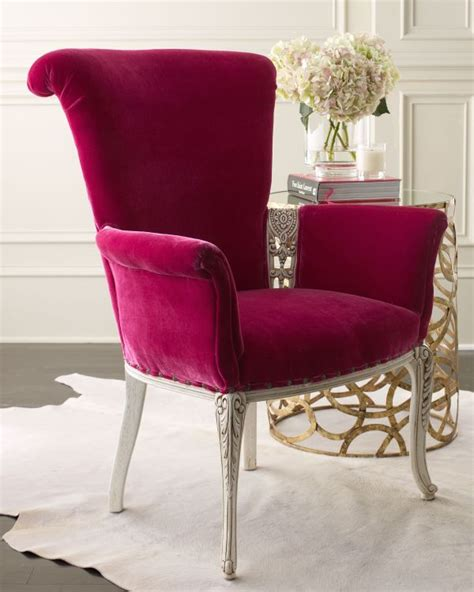 Fuschia Accent Chair by 5 Velvet Accent Features For This Fall