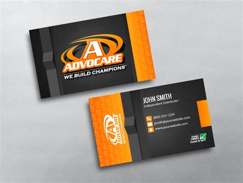 free advocare business card template advocare business card 04