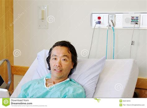 patient in hospital bed patient in hospital bed royalty free stock images image