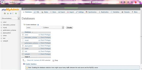 belajar membuat database xp memulai membuat database di xampp kolom pemrograman