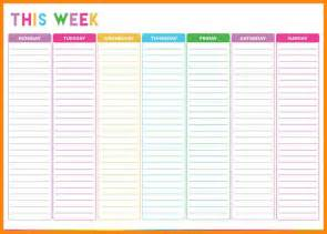 weekly list template 10 weekly checklist template resumed