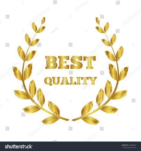 award best quality wreath winner stock vector 268405856