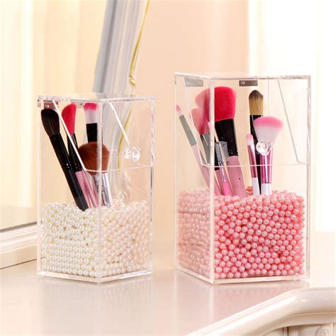 Acrylic Brush Akrilik Tempat Make Up brand new clear acrylic makeup holder pen organizer diy