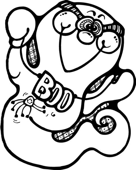 happy ghost coloring pages free halloween coloring pages