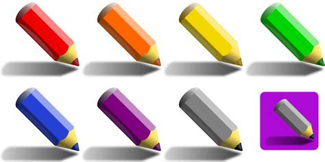 pencils that change colors clipart 7 color pencils