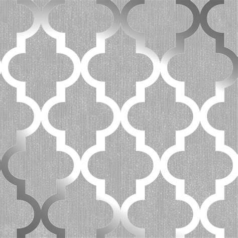 Tiffany And Co Home Decor by Henderson Interiors Camden Trellis Wallpaper Soft Grey