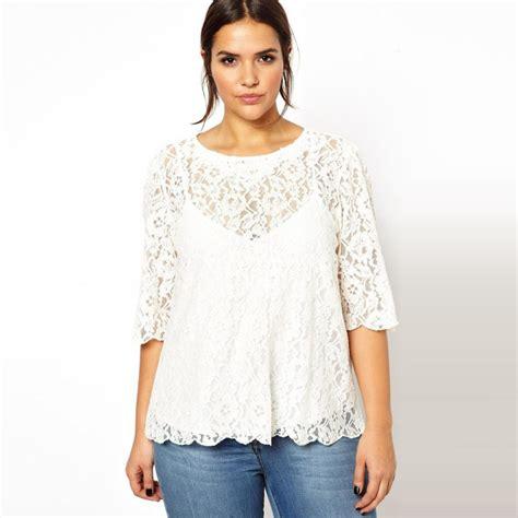 Blouse Katun Bigsize 3 aliexpress buy half sleeve lace tops t shirts womens plus size 3xl 6xl summer style 5xl