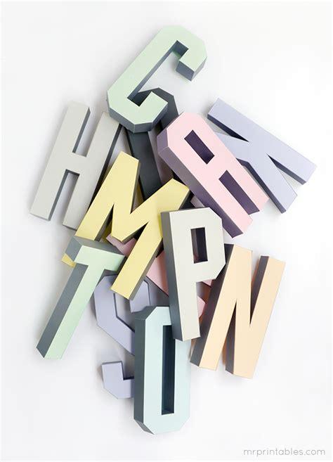 3d alphabet letters template free 3d alphabet templates mr printables print me