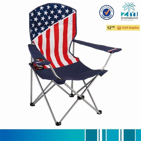 cing chair with american flag view folding chair