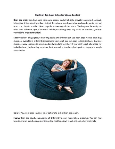 Where Can I Buy Bean Bag Chairs by Buy Bean Bag Chairs For Utmost Comfort
