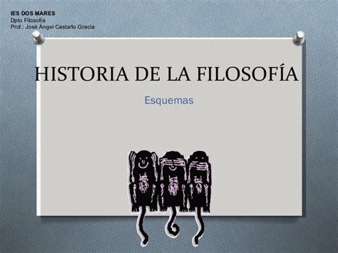 historia de la filosofa esquemas para historia de la filosof 237 a