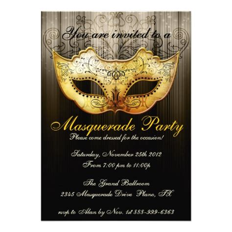 masquerade invitations templates 6 000 masquerade invitations masquerade
