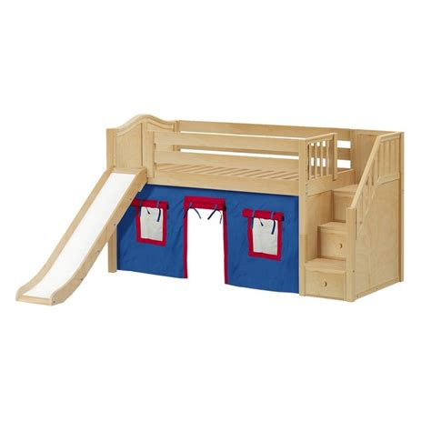low loft bed with slide maxtrixkids aerie21 nc low loft bed with staircase on