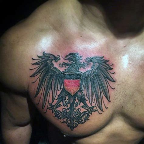 german eagle tattoo german eagle chest