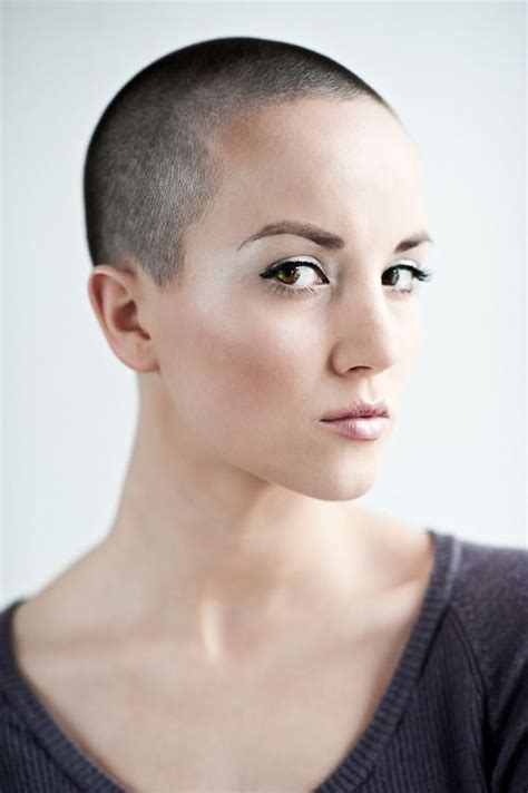 women getting hair buzzed and shaved shaved head buzz cut dark hair super short 2 style