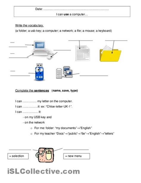 Worksheets For Computer Class by 7 Best Worksheets Images On Bows Classroom