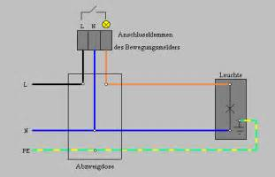 le anbringen drei kabel anleitung bewegungsmelder anschlie 223 en mit schaltplan