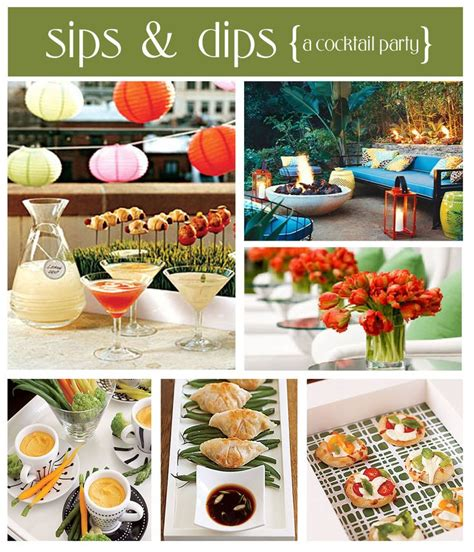martini party ideas sips dips cocktail party maid of honor duties pinterest