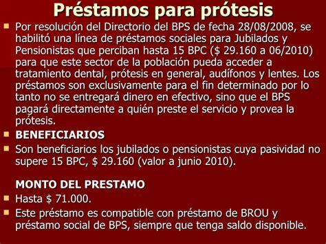 prstamos sociales bps banco de previsin social derechos y obligaciones de los trabajadores