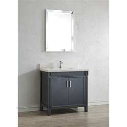 White Bathroom Vanity With Quartz Top 36 Inch Pepper Gray Finish Bathroom Vanity Quartz Top In