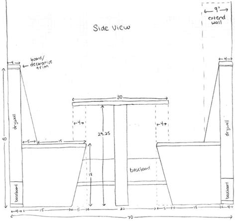 kitchen bench dimensions much space between seat and table this could be helpful in