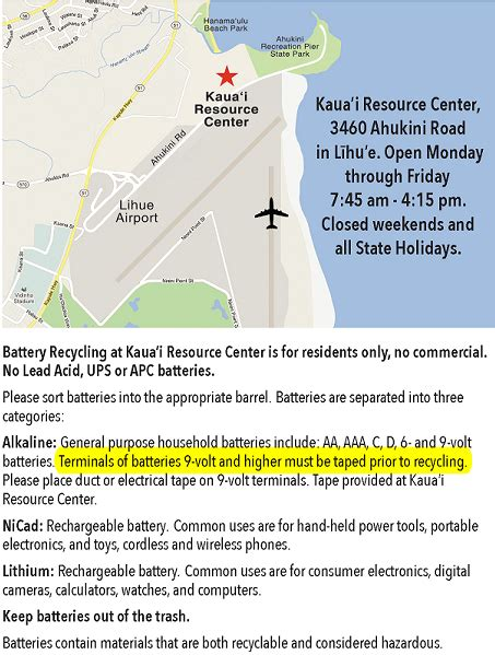 kauai battery recycling kauai gov
