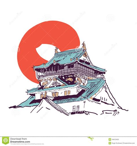 Traditional Style House Plans by Japanese House Drawing Stock Photos Image 34613403