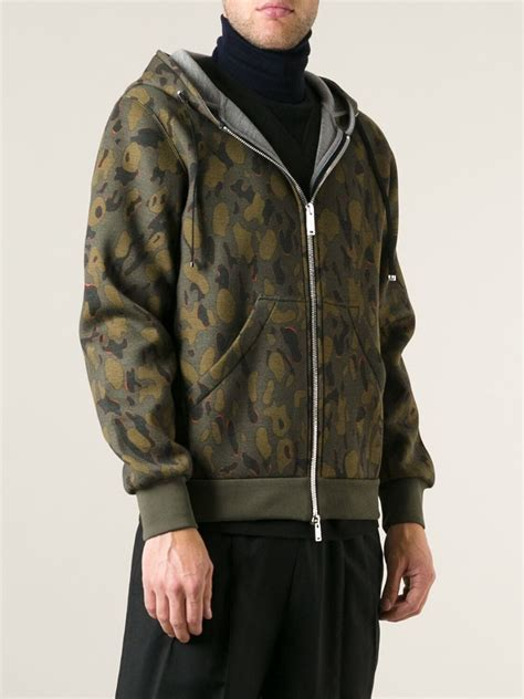 Acu Pattern Hoodies | moncler gamme rouge camouflage pattern hoodie in green for