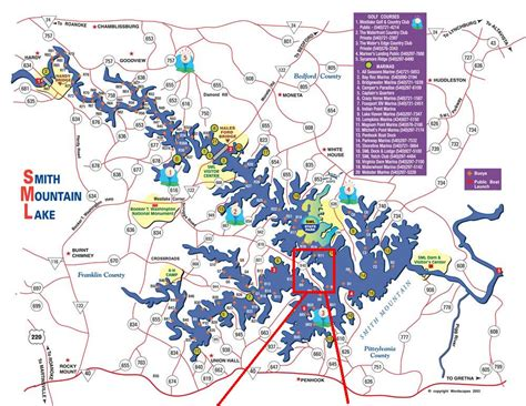 smith mountain lake map sml map