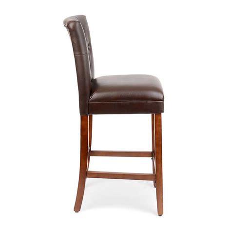linen bar stools kirklands brown faux leather tufted bar stool kirklands