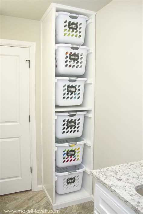 Diy Laundry Basket Organizer Built In Make It And Laundry Diy