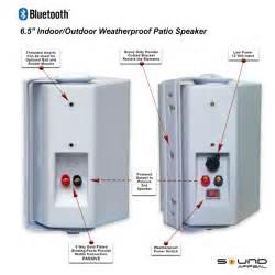 wireless backyard speakers wireless outdoor speakers 6 50 quot bt blast pro indoor