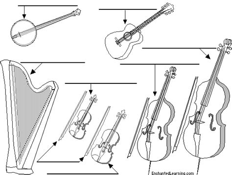 label string instruments in english printout