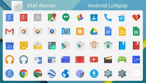 material design icon pack zip pack de iconos libres con estilo android lollipop