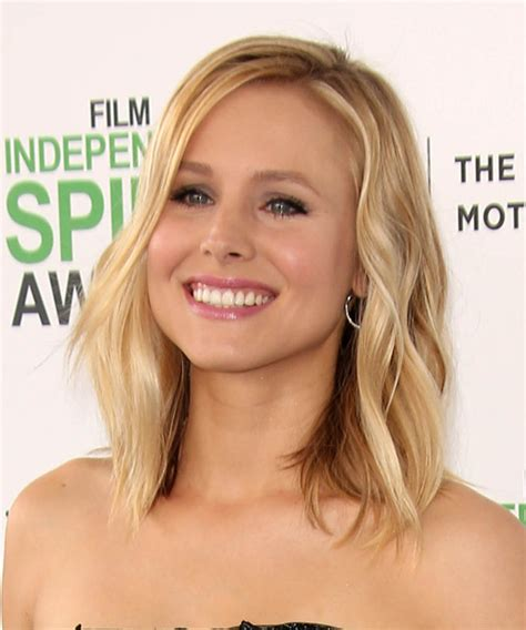 kristen bell medium straight cut edgy chic kristen bell kristen bell medium straight casual hairstyle medium