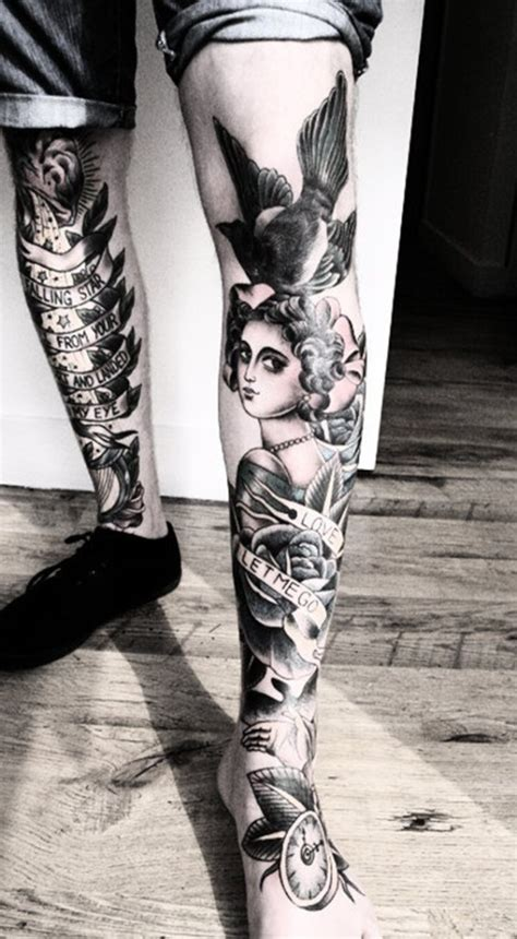womens leg tattoo 30 leg designs for
