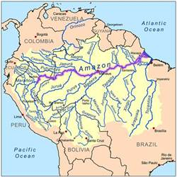 river south america map