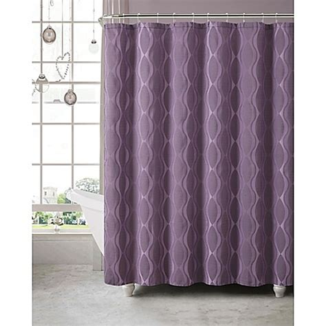 plum shower curtain buy grayson jacquard shower curtain and hook set in plum