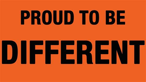 Proud Be proud to be different project