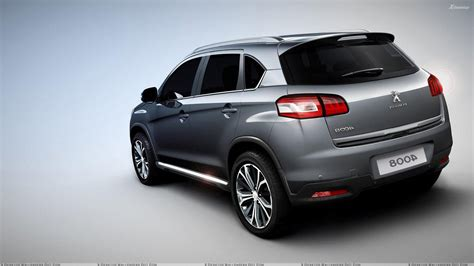 peugeot grey 2012 peugeot 4008 in grey back pose wallpaper