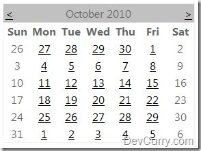 disable weekends in asp net calendar